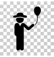 gentleman with balloon icon vector image