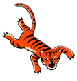 leaping tiger cartoon vector image vector image