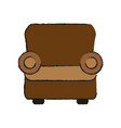 one seat couch or sofa icon image vector image