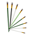 Set of Artist Brushes on White Background vector image vector image