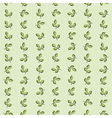 texture pattern of green leaves striped background vector image