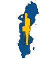 Swedish Salute vector image vector image