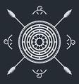 native ethnic art symbol vector image vector image