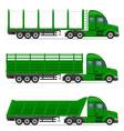 semi truck trailer 14 vector image