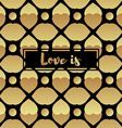 Invitation card with gold heart vector image