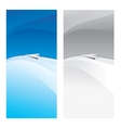 Paper plane flying vector image vector image