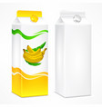 banana juice package vector image