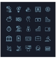 busines money and finance icon set vector image