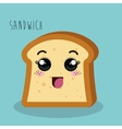 cartoon sandwich bread design isolated vector image