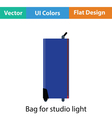 Icon of studio photo light bag vector image