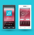 Modern smartphone Flat design template for mobile vector image