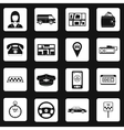 Taxi icons set in simple style vector image