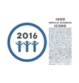 2016 Guys Dance Rounded Icon with 1000 Bonus Icons vector image