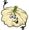 Funny patison vegetable cartoon Vector Image