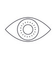 eye icon in monochrome silhouette vector image