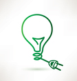 green bulb with plug abstract icon vector image