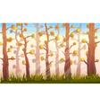 Cartoon Forest Background Landscape vector image