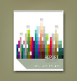 Cover Report colorful geometric building patten vector image vector image