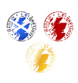 made in Scotland stamp vector image