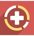 Health Care Diagram Flat Square Icon with Long vector image