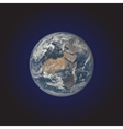 realistic planet Earth vector image vector image