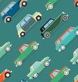 wallpaper of set vintage cars vector image