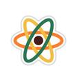 paper sticker on white background atom vector image