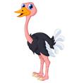 ostrich cartoon posing vector image
