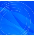 Abstract bright blue background with white lines vector image