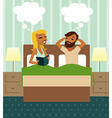 Couple in bedroom vector image
