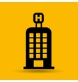 hotel building travel icon design graphic vector image