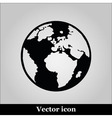 icon world map on grey background vector image