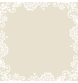 lace on beige background vector image
