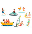 summer water activities set vector image