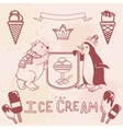 Various Ice cream set vector image