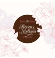 Vintage Chocolate Brown Pink Round Frame vector image