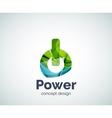 Power button logo template vector image