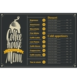 menu with price list for the coffee house vector image