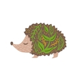 Hedgehog Relaxed Cartoon Wild Animal With Closed vector image