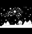 winter landscape with houses winter christmas vector image