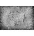 texture grain grey with horse vector image vector image