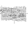 why do play dirty text word cloud concept vector image