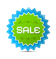 Paper Sticker - Label with Sale Title vector image vector image