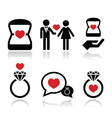 Engagement diamond ring in box icons set vector image vector image