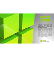 cube layout green vector image