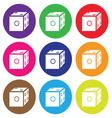 dice icon color set vector image vector image