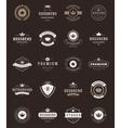 Retro Vintage Premium Quality Labels and Crowns vector image