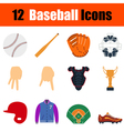 Baseball icon set vector image