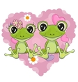 Two Frogs vector image