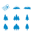 Set of map and natural areas icons vector image